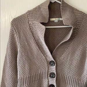 Boden size 6 thick knit cardigan with buttons